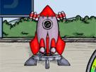 Uzay mekiği uçur