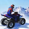 ATV Motor Karlı Dağlarda